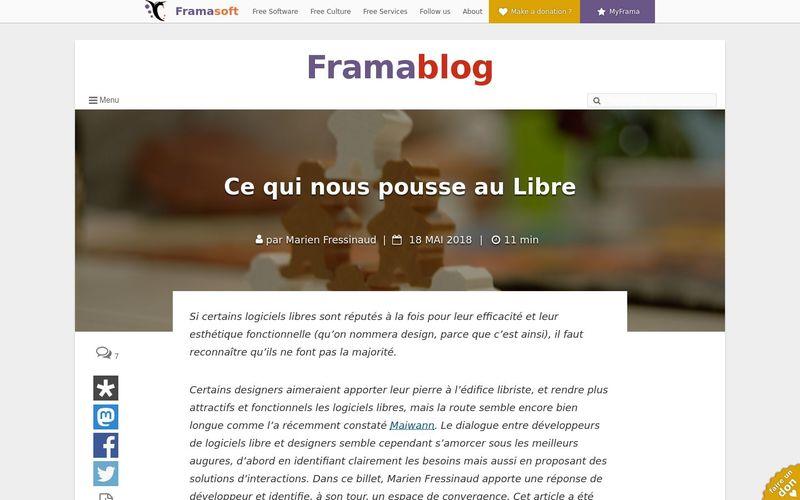 Ce qui nous pousse au Libre : Framablog