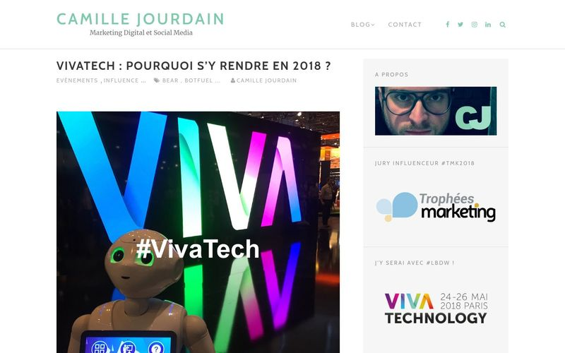 VivaTech : pourquoi s'y rendre en 2018 ? (Camille Jourdain)