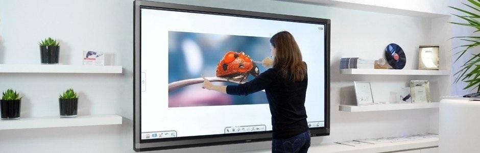 écran interactif pour entreprises